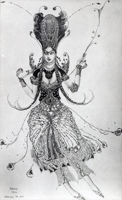 Costume design for 'The Firebird', 1910