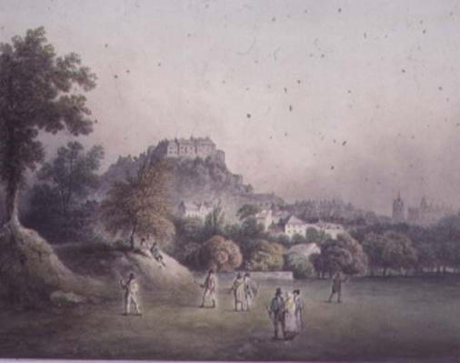 Edinburgh from the Bruntsfield Golf Links, late 18th or early 19th century