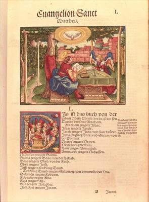 Gospel of St.Matthew, Book I, from the Luther Bible, c.1530