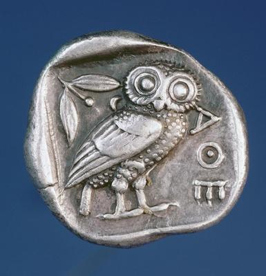 Athenian tetradrachma depicting the Owl of Athens