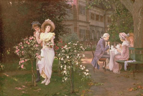 Teatime romance, 19th century