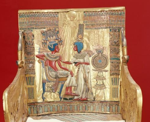 Throne, from the Tomb of Tutankhamun