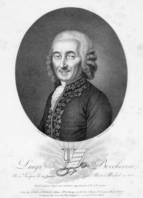 Luigi Boccherini, engraved by Bourgeois de la Richardiere, c.1806