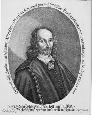 Johannes Erasmus Kindermann, engraved by Johann Friedrich Fleischberger