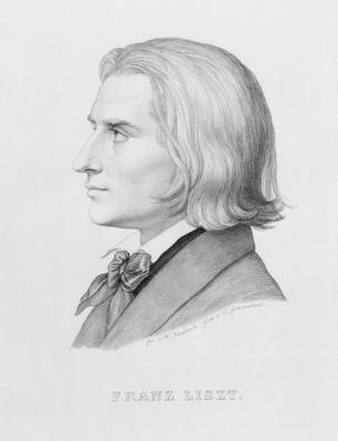 Franz Liszt, engraved by Gonzenbach