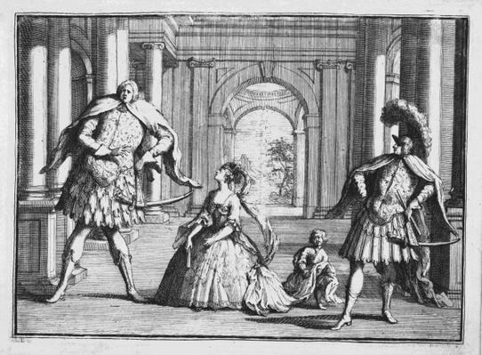 Farinelli, Cuzzoni and Senesino in Handel's 'Flavio', c.1728