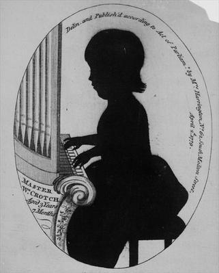 William Crotch Playing the Organ