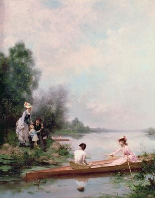 Boating on the River, 19th century