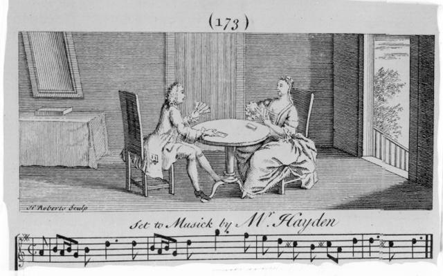 Illustration to Sheet Music by Joseph Haydn, engraved by H. Roberts