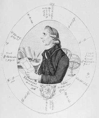Portrait of Ebenezer Sibly surrounded by his horoscope