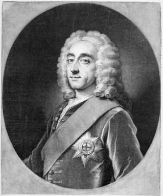 Philip Dormer Stanhope, engraved by John Simon