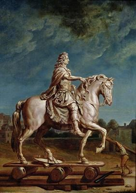 Transporting the Equestrian Statue of Louis XIV from the Workshop at the Convent of the Capucines in 1669, after 1669