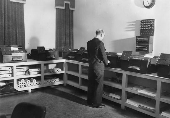 Teleprinter Room | History of the Computer