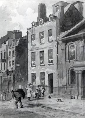 House of Sir Isaac Newton at 35 St Martin's Street, Leicester Square, London, 1850