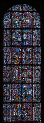Window depicting the legend of St. Catherine