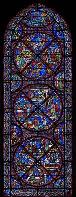 Window depicting scenes from the life of St. Stephen