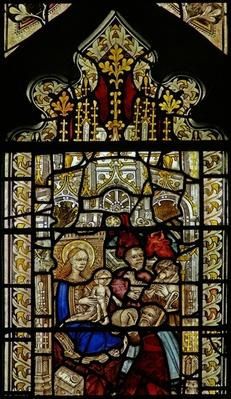 Window depicting the adoration of the Shepherds