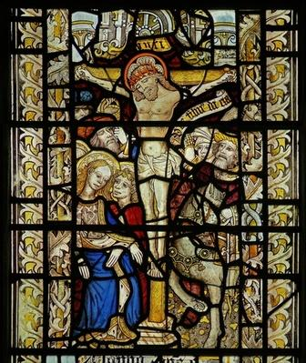 Window depicting the Crucifixion