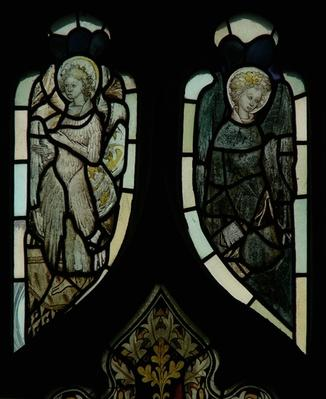 Tracery light windows depicting angels