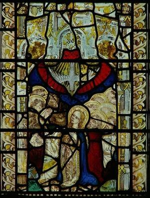 Window depicting the Pentecost