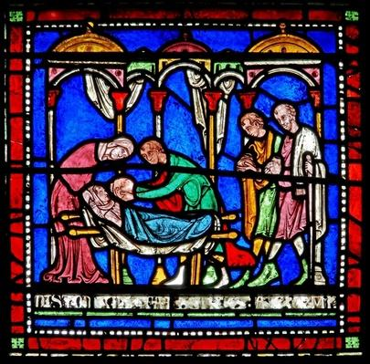 Detail from the Miracle Window depicting Richard of Sunieve's story