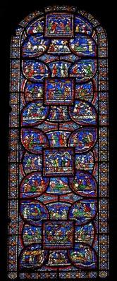 The Miracle Window depicting various stories of healing