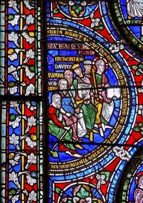 Detail from one of the Bible Windows depicting the Six Ages of the World