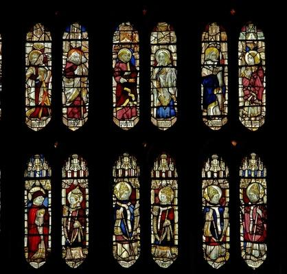 Window depicting saints