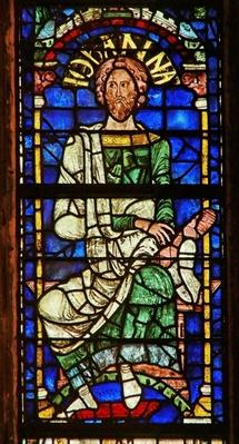 Window depicting a genealogical figure: Joanna, c.1178