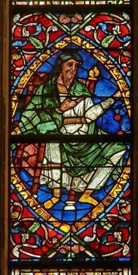 Window depicting a genealogical figure: Salomon