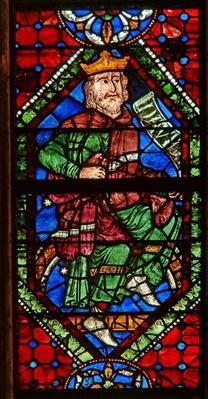 Window depicting a genealogical figure: David