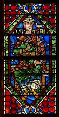 Window depicting a genealogical figure: Nathan