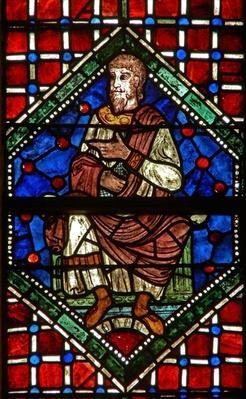 Window depicting a genealogical figure