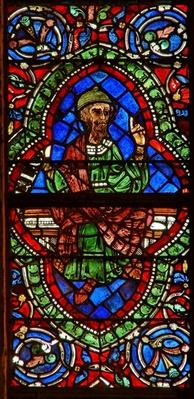 Window depicting a genealogical figure: Jonan