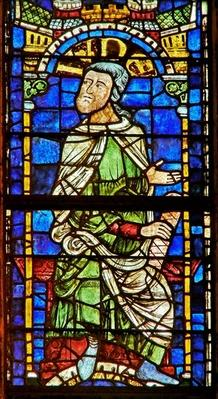 Window depicting a genealogical figure: Judah