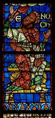 Window depicting a genealogical figure: Enoch