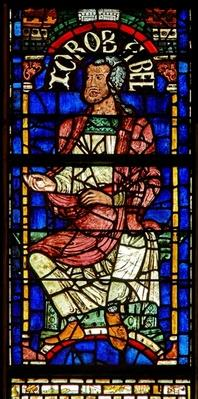 Window depicting a genealogical figure: Zorobabel