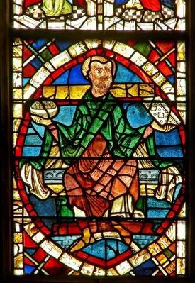 Window depicting a genealogical figure: Jeconais
