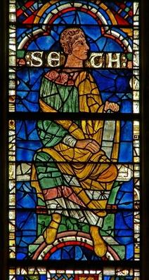 Window depicting a genealogical figure: Semel
