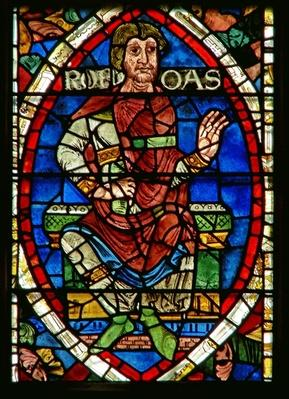 Window depicting a genealogical figure: Rehoboham
