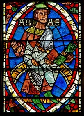 Window depicting a genealogical figure: Abia