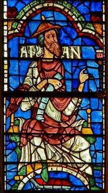 Window depicting a genealogical figure: Aram