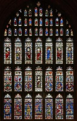 The west window with genealogical figures from the twelfth and thirteenth centuries and kings from the fifteenth century