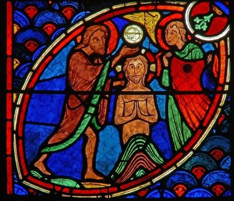 Window depicting a scene from the life of St. John the Baptist