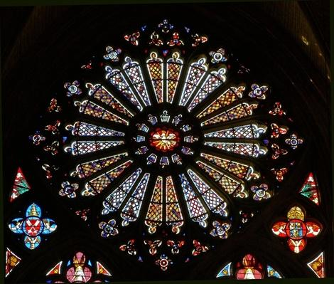 The west rose window