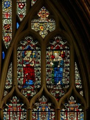 Window depicting Edward the Confessor and King Edmund
