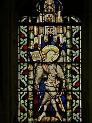 Window depicting the angel Gabriel