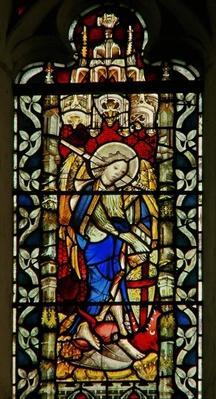 Window depicting St. Michael