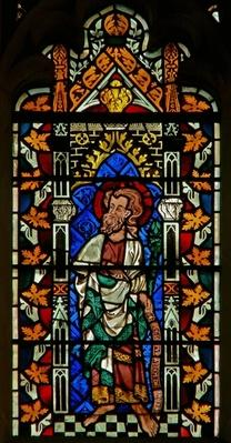 Window depicting Moses