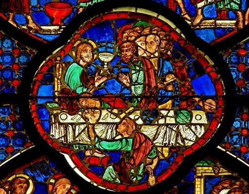 Window depicting the Last Supper